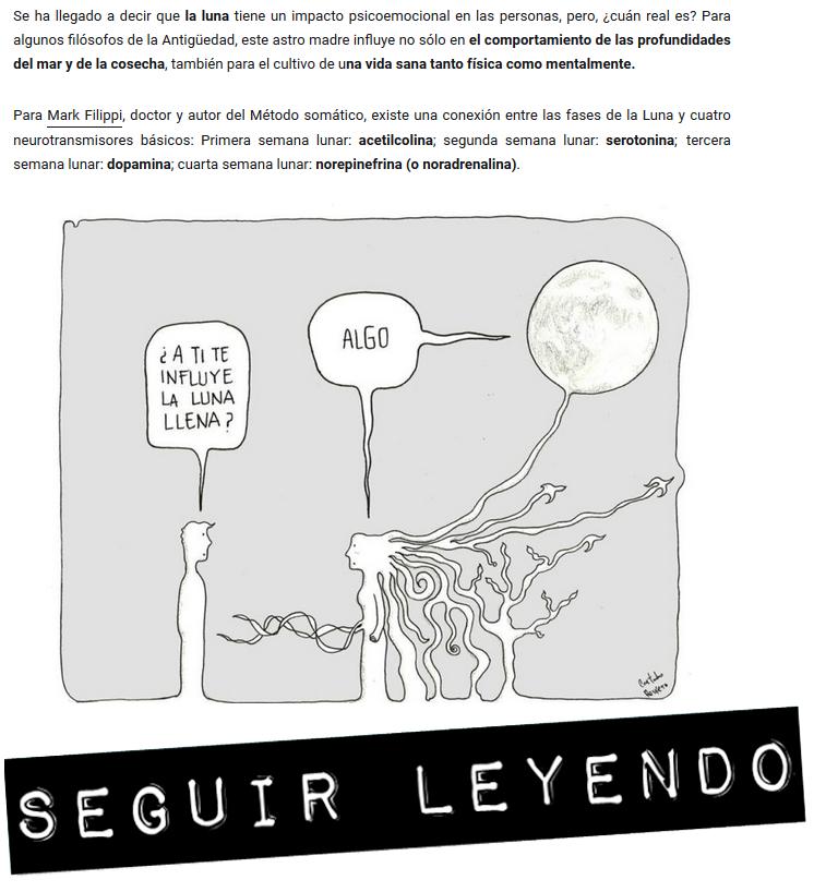 Interesante artículo sobre la influencia lunar en los estados de ánimo