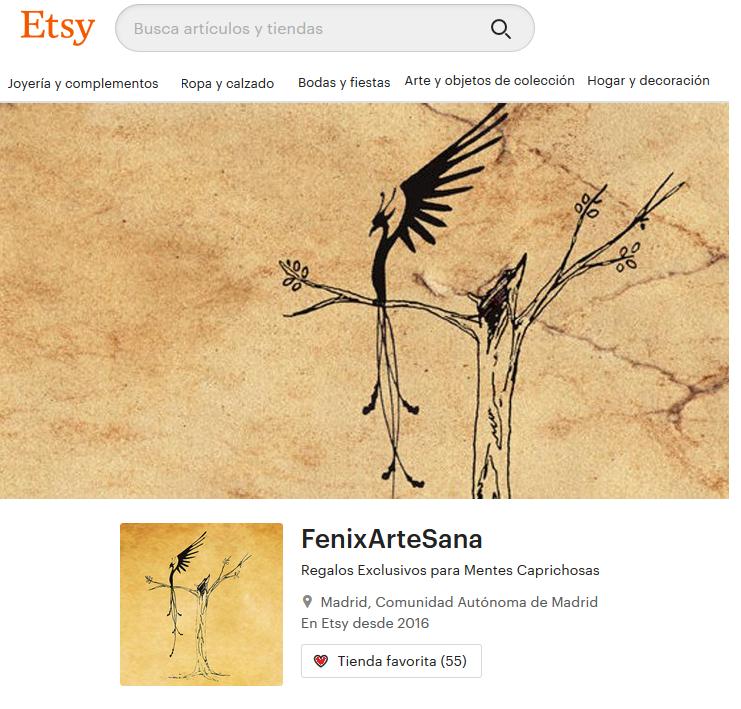 Tienda Online Fénix Arte Sana en ETSY